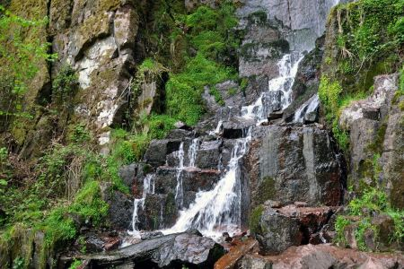 Free Nideck waterfall, Alsace, France