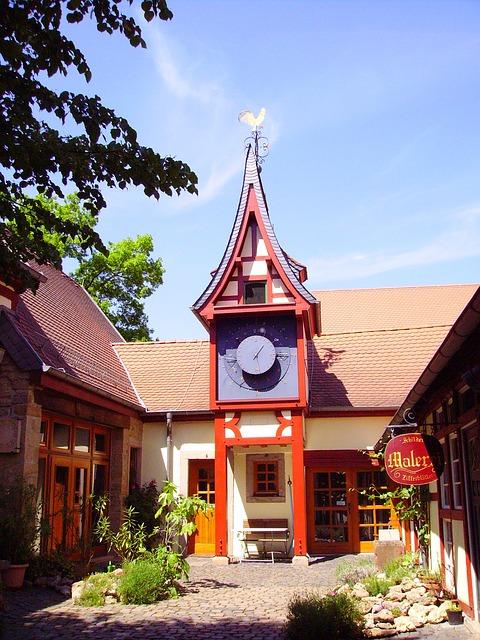 Free clock tower germany rockenhausen museum truss