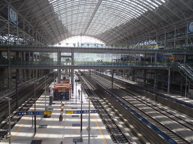 Free railway station korea platform train railway ktx