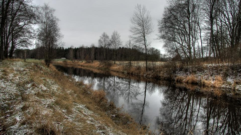 Free Winter River Hassleholm in Sweden