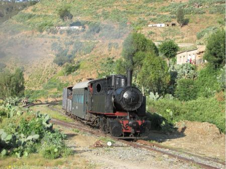 Free Vintage steam train in Africa