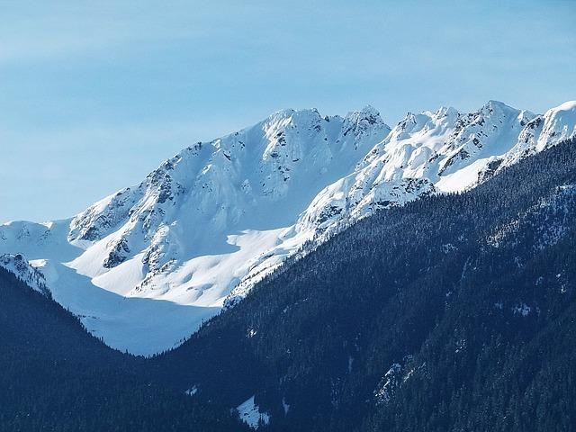 Free snow covered mountains lillooet lake