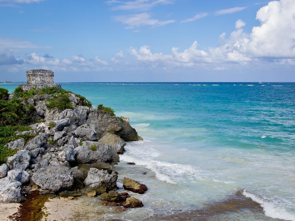Free Beautiful Beach  Quintana Roo, Mexico