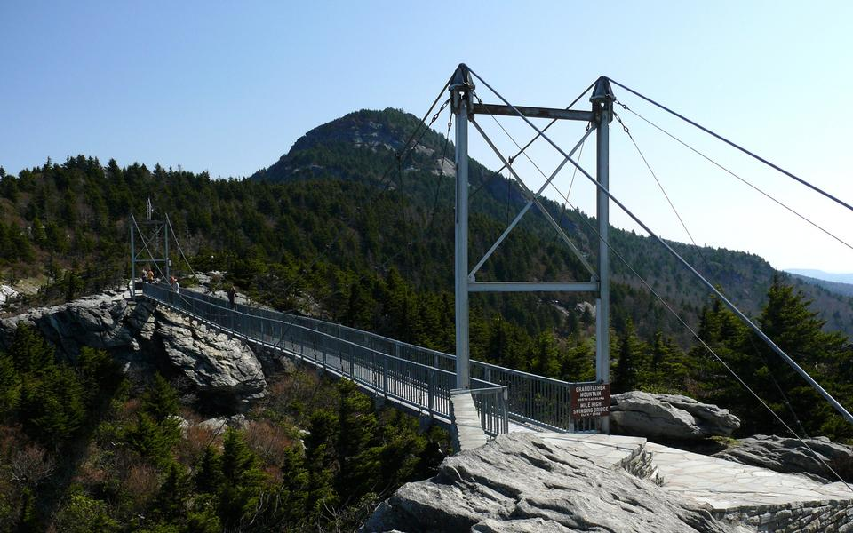 Free The Mile-High Swinging Bridge at Grandfather Mountain