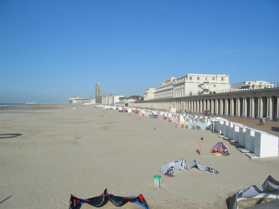 Free beach in Ostend, Belgium
