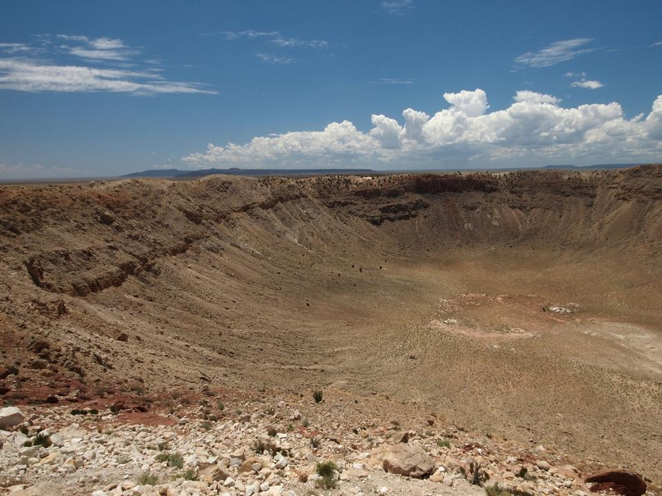 Free northern rim of Meteor Crater