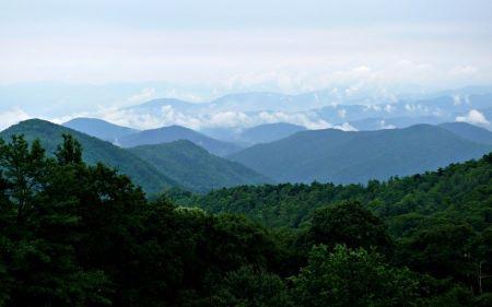 Free Blue Ridge Parkway in western North Carolina