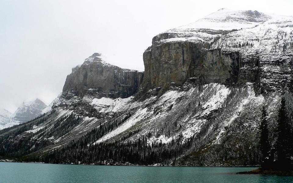 Free Cliffs above Maligne Lake