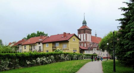 Free Church and  Old Town in poland