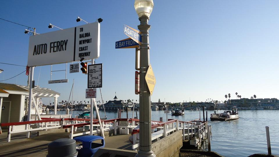 Free Auto Ferry station located on Balboa Island