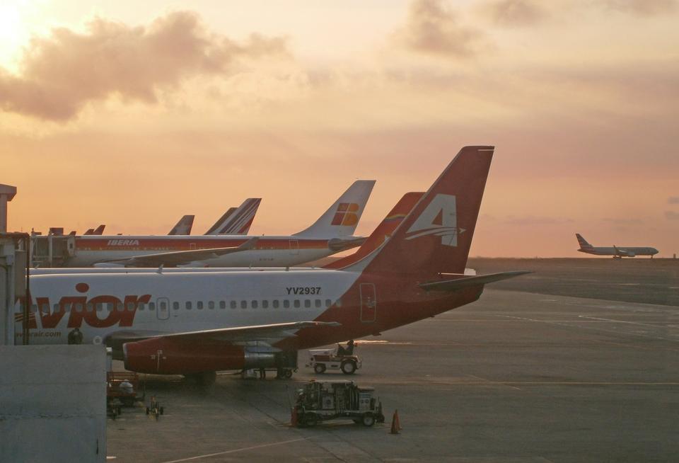 Free Avior plane in Maiquetia Airport Venezuela