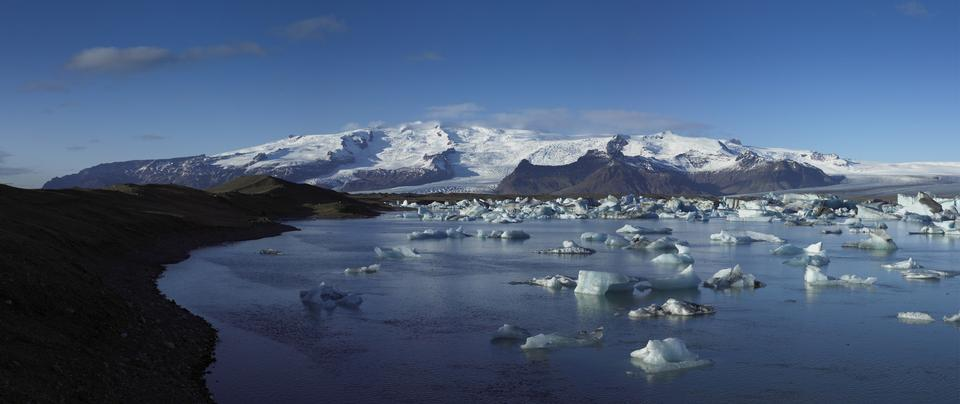 Free Panorama of the Vatnajokull Glacier Iceland