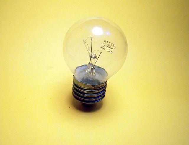 Free light light bulb yellow