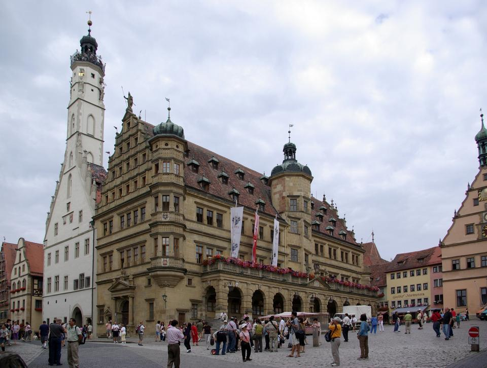 Free Historic Town Hall of Rothenburg ob der Tauber, Germany