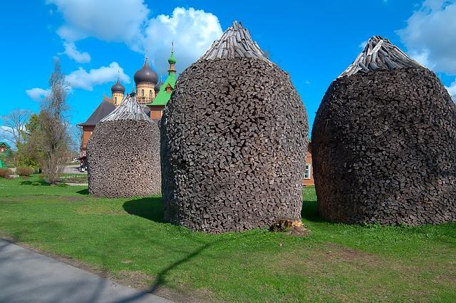 Free estonia monastery firewood rick