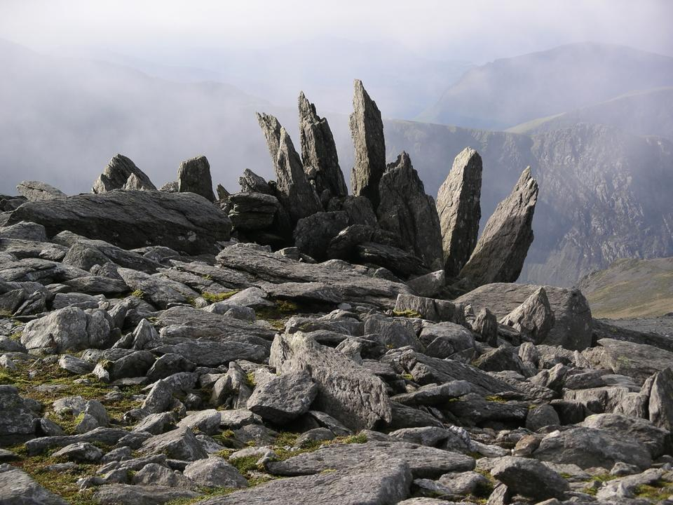Free Cantilever Stone on Glyder Fach, Sowdonia in Wales