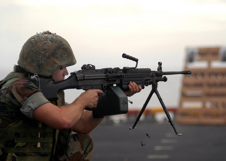 Free Marine Regiment participates in a small arms training exercise