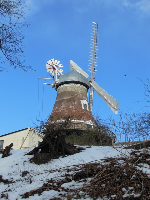 Free old windmill dyrhave mill 1800 century