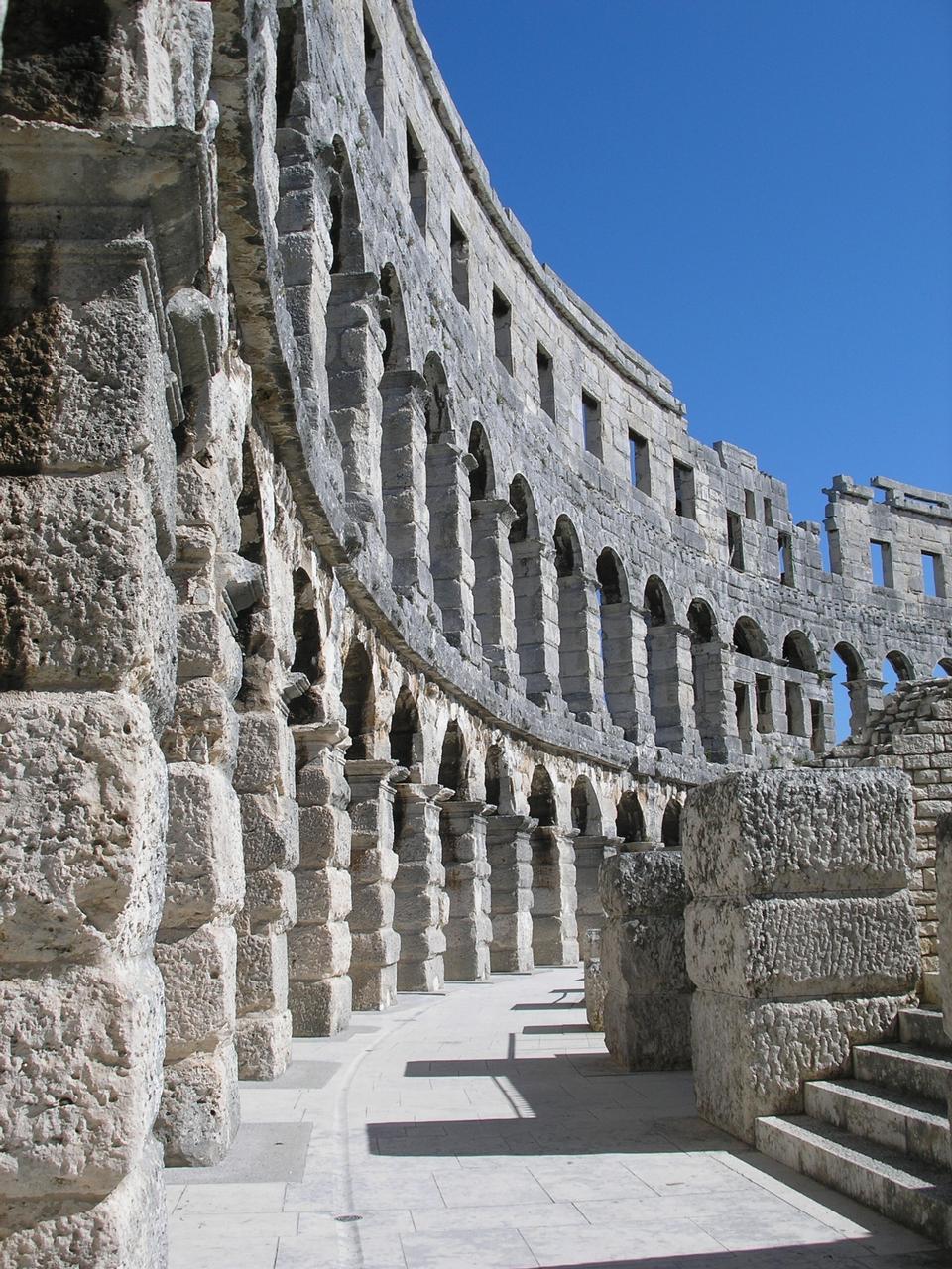 Free Roman amphitheatre (Arena) in Pula