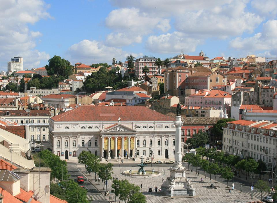 Free Bird view of Dom Pedro IV square
