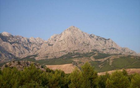 Free Biokovo mountains in Makarska Riviera, Croatia