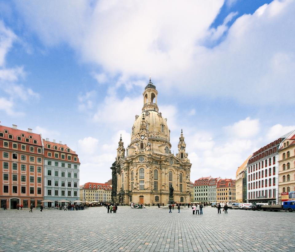 Free The Dresden Frauenkirche in Dresden, Saxony, Germany