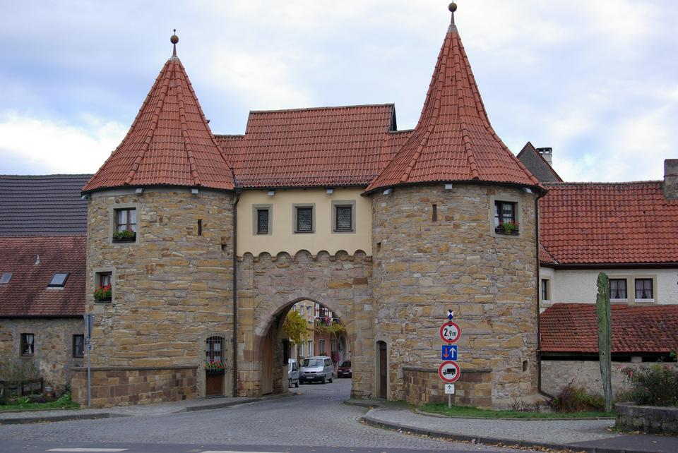 Free Town gate in Prichsenstadt, Germany