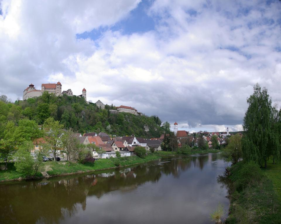 Free City view of Schwaebisch Hall in Southern Germany