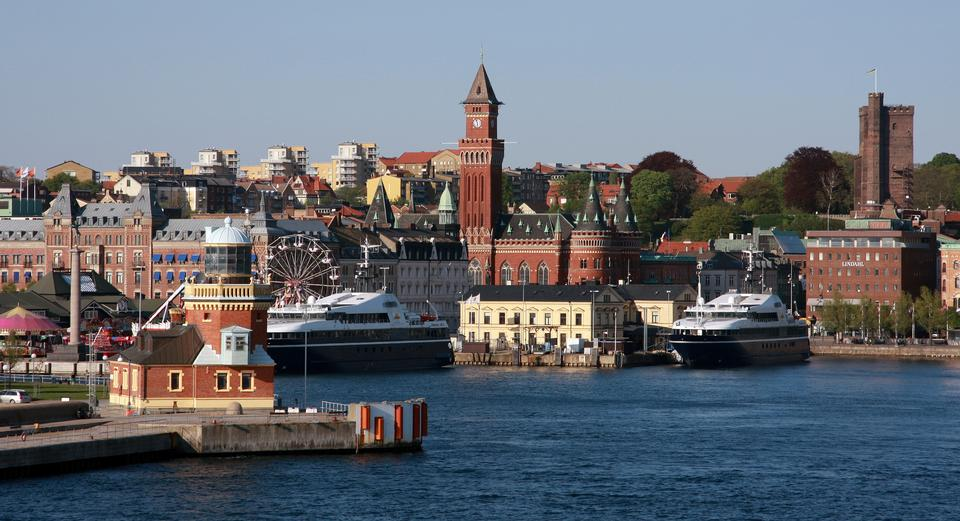 Free View of the City Hall Helsingborg in Sweden