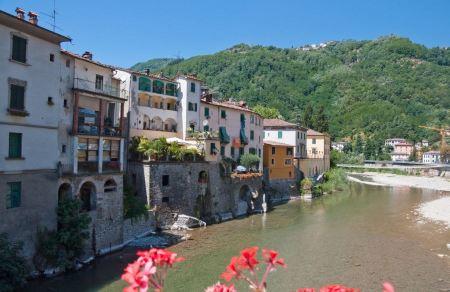 Free View from the bridge in Bagni di Lucca, Ital