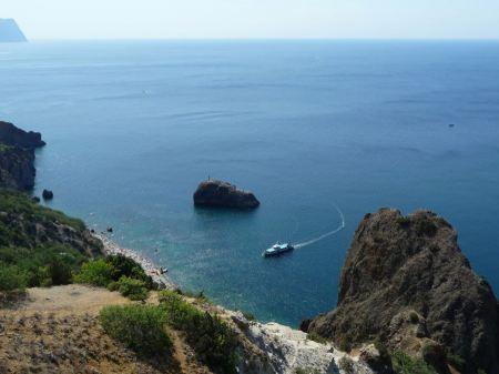 Free Black sea coast. Fiolent. Crimea. Ukraine