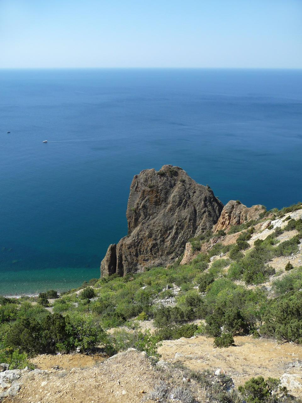 Free Black sea coast. Fiolent. Crimea. Ukraine