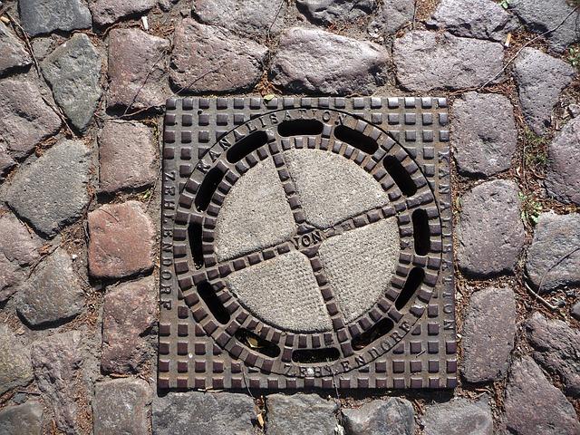 Free underground channel sewage system manhole cover