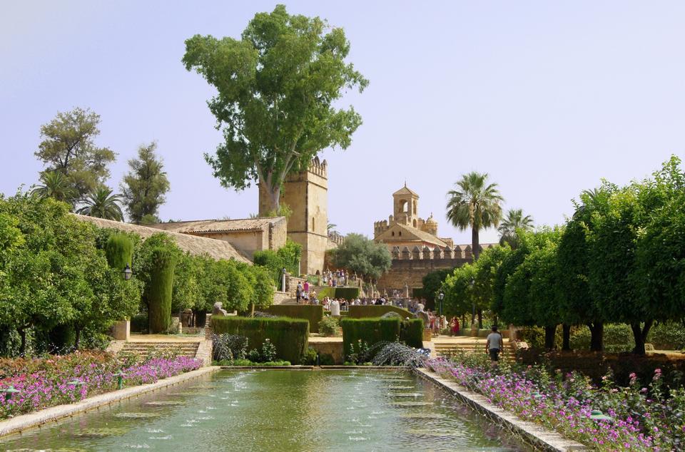 Free Gardens at the Alcazar de los Reyes Cristianos in Cordoba, Andalu