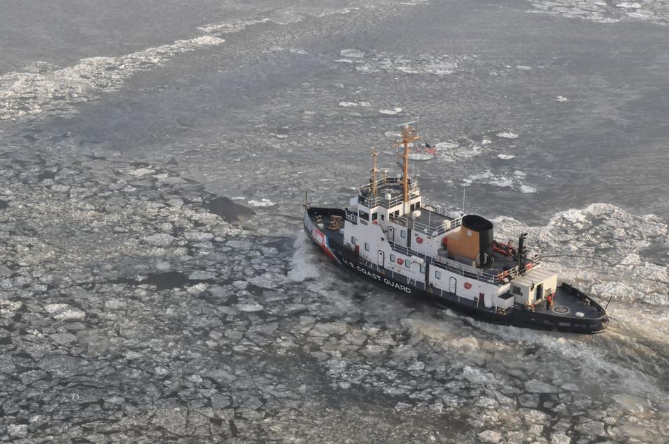 Free Coast Guard Cutter  Hudson River near Poughkeepsie, New York