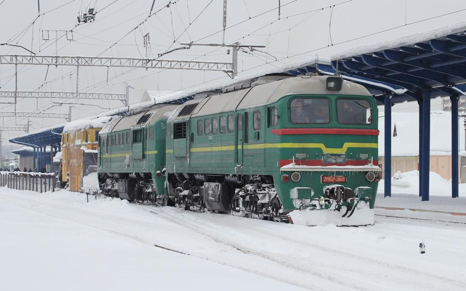 Free Railway snow blower in  Vinnitsa railway station