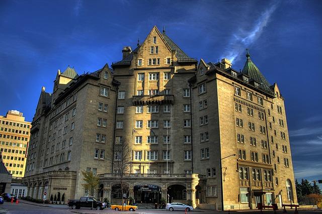 Free edmonton canada city urban hotel building