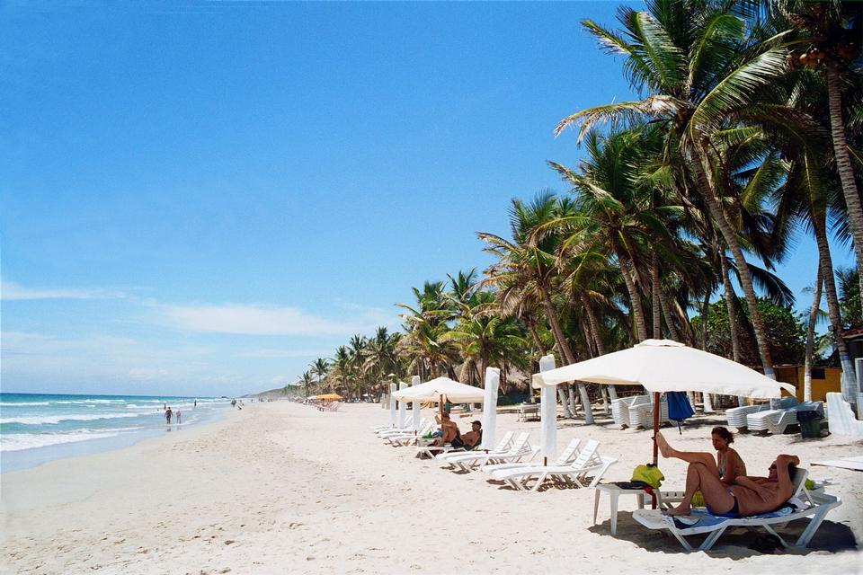 Free summer beach Margarita Island