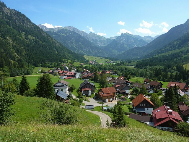 Free hinterstein germany village buildings mountains