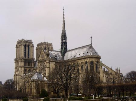 Free Notre Dame Church in Paris, along Seine River