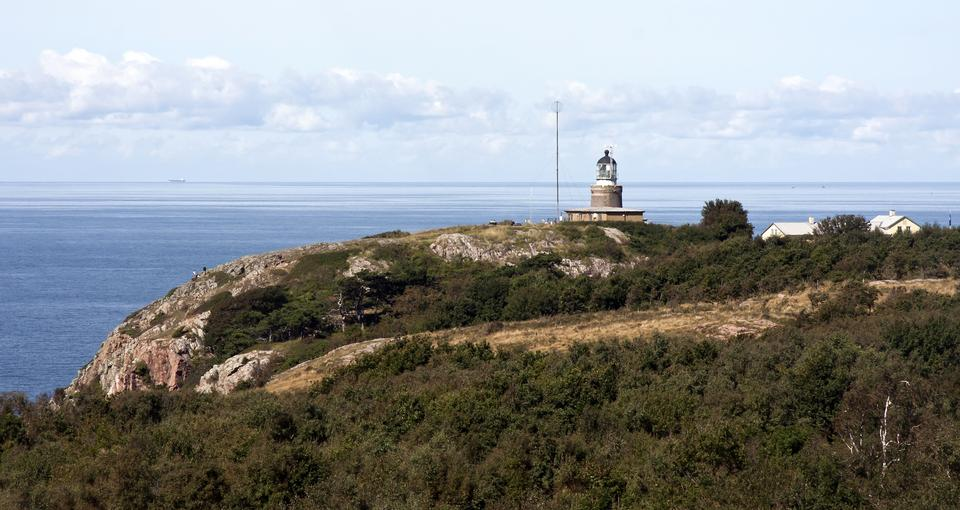 Free lighthouse on Kullaberg in Scania, Sweden