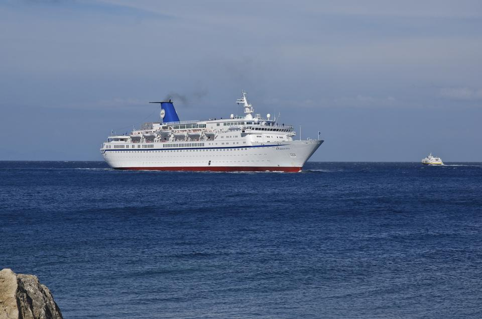 Free Luxury cruise ship in harbour of Rhodes