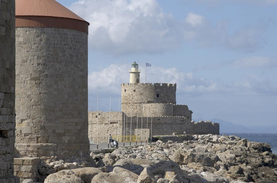 Free Fort of Saint Nicholas , Rhodes Greece