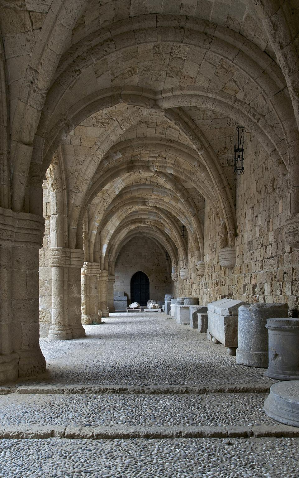Free Rhodes - the medieval building of the Hospital of the Knights