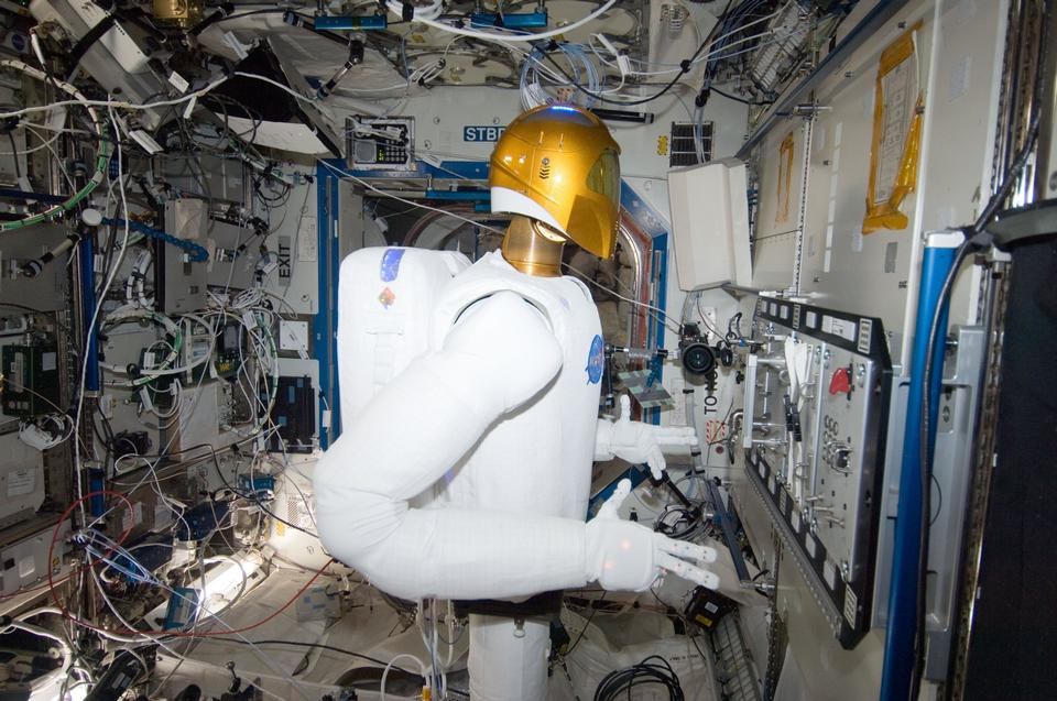 Free Robonaut Operates Task Board in Space