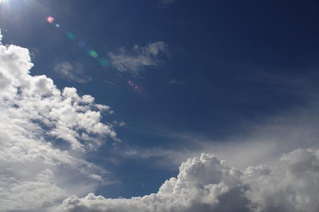 Free baltic sea clouds blue sky
