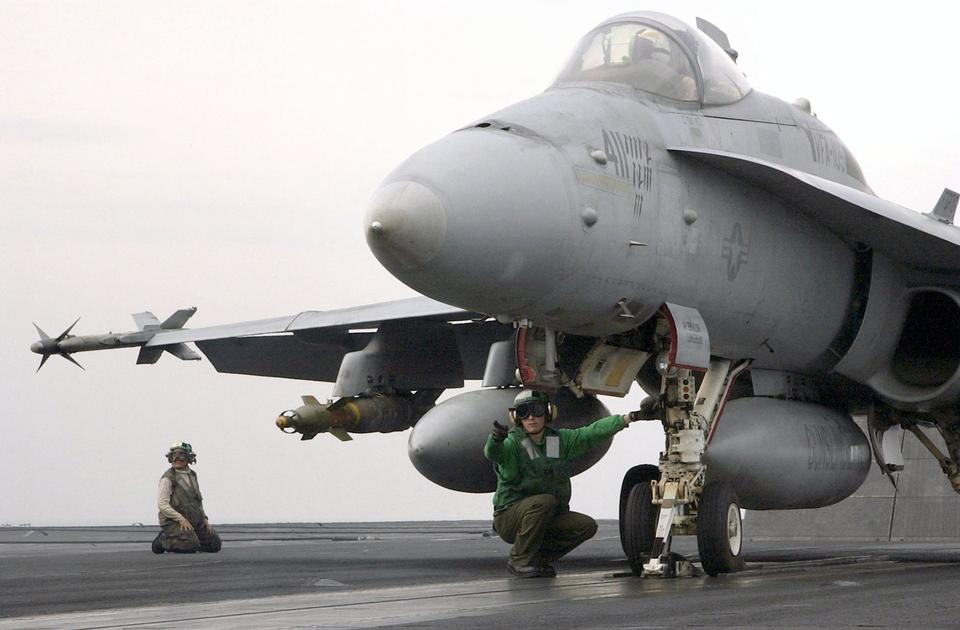 Free An FA-18 Hornet prepares to launch