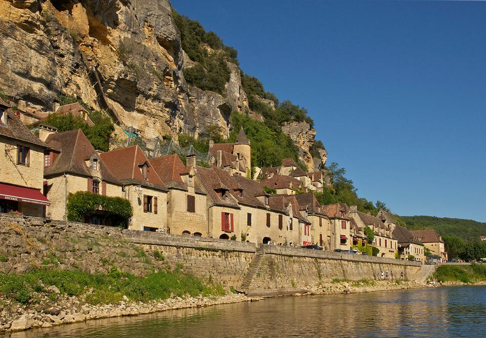 Free beautiful village of La roque gageac dordogne perigord France