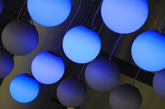 Free lamps light blue night dark lighting