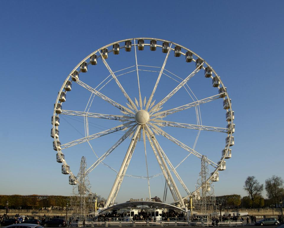 Free Ferris in the Concorde Square in Paris, France